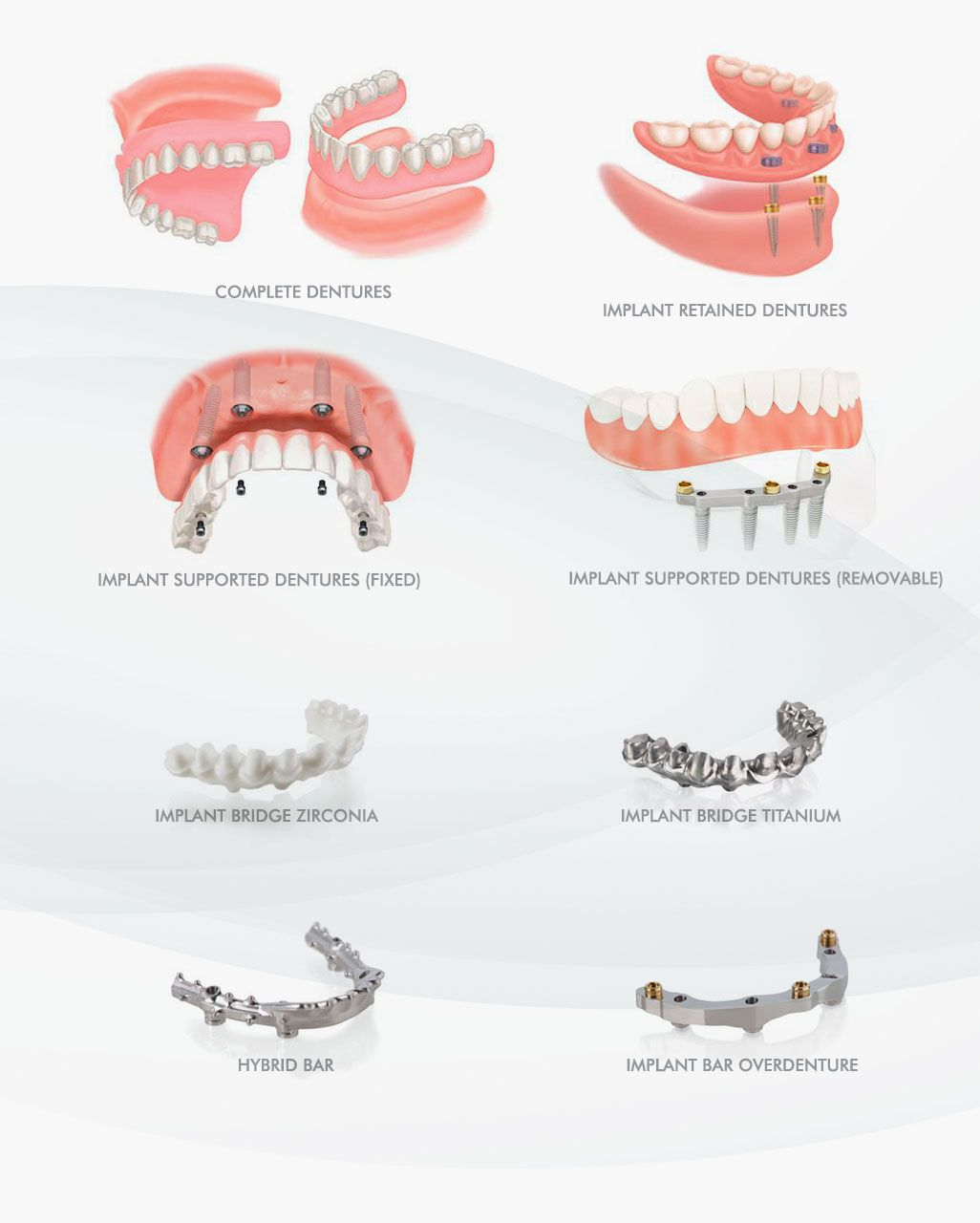 types to Snap on Dentures in ocean dental cancun